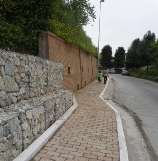 Consolidamento frana e realizzazione marciapiedi Circonvallazione Nord